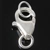 925 Sterling Silber Karabinerverschluss, 4.80x8x2.50mm, Bohrung:ca. 2-3mm, 10PCs/Tasche, verkauft von Tasche
