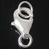 925 Sterling Silber Karabinerverschluss, 4.50x7.80x2.40mm, Bohrung:ca. 2-3mm, 20PCs/Tasche, verkauft von Tasche