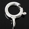 925 Sterling Silber Federring Verschluss, 7.50x5x1mm, Bohrung:ca. 1.4mm, 50PCs/Tasche, verkauft von Tasche