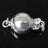 925 Sterling Silber Schnappschließe, Einzelstrang, 8mm, Bohrung:ca. 2mm, 5PCs/Tasche, verkauft von Tasche