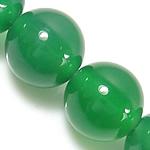 Natürliche grüne Achat Perlen, Grüner Achat, rund, grün, 6mm, Bohrung:ca. 1-1.5mm, Länge:ca. 15 ZollInch, 5SträngeStrang/Menge, verkauft von Menge