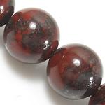 Jaspis Brekzien Perlen, Jaspis Brecciated, rund, natürlich, 8mm, Bohrung:ca. 1mm, Länge:ca. 15 ZollInch, 10SträngeStrang/Menge, ca. 46PCs/Strang, verkauft von Menge