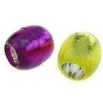 ABS-Kunststoff-Perlen, ABS Kunststoff, Trommel, gemischte Farben, 12x13mm, Bohrung:ca. 7mm, 600PCs/Tasche, verkauft von Tasche