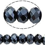 Rondell Kristallperlen, Kristall, AB Farben plattiert, AA grade crystal, Montana, 3x4mm, Bohrung:ca. 1mm, Länge:ca. 19.3 ZollInch, 10SträngeStrang/Tasche, ca. 140PCs/Strang, verkauft von Tasche