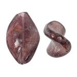Goldsand Lampwork Perlen, Twist, violett, 17x26x6mm, Bohrung:ca. 1.5mm, 100PCs/Tasche, verkauft von Tasche