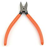 Schmuck Zange, Eisen, mit Kunststoff, plattiert, rote Orange, frei von Nickel, Blei & Kadmium, 110x145x12mm, verkauft von PC