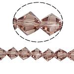 Doppelkegel Kristallperlen, Kristall, facettierte, Vintage Rose, 8x8mm, Bohrung:ca. 1.5mm, Länge:12.5 ZollInch, 10SträngeStrang/Tasche, verkauft von Tasche
