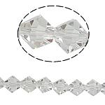 Doppelkegel Kristallperlen, Kristall, facettierte, Kristall, 8x7mm, Bohrung:ca. 1mm, Länge:10.5 ZollInch, 10SträngeStrang/Tasche, verkauft von Tasche
