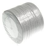 Funkeln Band, Silberfarbe, 6mm, Länge:250 HofHof, 10PCs/Menge, verkauft von Menge