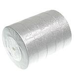 Funkeln Band, Silberfarbe, 25mm, Länge:125 HofHof, 5PCs/Menge, verkauft von Menge