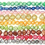 Kartoffel Süßwasser Zuchtperlen, Natürliche kultivierte Süßwasserperlen, natürlich, gemischte Farben, 4-5mm, Bohrung:ca. 0.8mm, Länge:14.5 ZollInch, 10SträngeStrang/Tasche, verkauft von Tasche