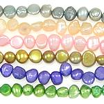 Barock kultivierten Süßwassersee Perlen, Natürliche kultivierte Süßwasserperlen, gemischte Farben, Grade A, 4-5mm, Bohrung:ca. 0.8mm, Länge:14.5 ZollInch, 10SträngeStrang/Tasche, verkauft von Tasche