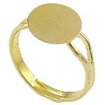 Messing einstellbare Fingerringe, goldfarben plattiert, frei von Blei & Kadmium, 10x10mm, Größe:6.5, 400PCs/Tasche, verkauft von Tasche