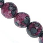 Regen Blumen Stein Perlen, rund, 10mm, Bohrung:ca. 1mm, Länge:ca. 16 ZollInch, 5SträngeStrang/Menge, verkauft von Menge