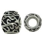 Zink Legierung Europa Perlen, Zinklegierung, Trommel, ohne troll & Emaille, frei von Nickel, Blei & Kadmium, 10x11mm, Bohrung:ca. 5mm, 10PCs/Tasche, verkauft von Tasche