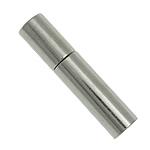 Messing Bajonettverschluss, Platinfarbe platiniert, frei von Nickel, Blei & Kadmium, 14x3mm, Bohrung:ca. 2mm, 300PCs/Menge, verkauft von Menge