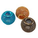Aluminium Perlen, Trommel, Spritzlackierung, gemischte Farben, 16x13mm, Bohrung:ca. 5mm, 100PCs/Tasche, verkauft von Tasche