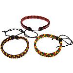 Mode Wachsschnur Armbänder, PU Leder, mit Gewachsten Baumwollkordel, einstellbar, gemischte Farben, 10mm, 5mm, Länge:6-10 ZollInch, 50SträngeStrang/Menge, verkauft von Menge