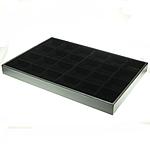 Mode Schmuckständer, Karton, Rechteck, schwarz, 240x350x30mm, 5PCs/Tasche, verkauft von Tasche