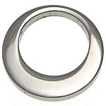 Edelstahl Schmuck Anhänger, Kreisring, originale Farbe, 15x15x2mm, Bohrung:ca. 10mm, 50PCs/Menge, verkauft von Menge