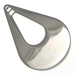Edelstahl -Ergänzung-Kette Tropfen, originale Farbe, 18x30x1.50mm, Bohrung:ca. 1.5mm, 40PCs/Menge, verkauft von Menge