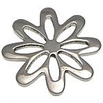 Edelstahl Schmuckverbinder, Blume, Multi-Schleifen, originale Farbe, 20x20x1.50mm, 30PCs/Menge, verkauft von Menge