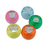 Gemischte Acrylperlen, Acryl, Trommel, traumhaft, gemischte Farben, 6x9mm, Bohrung:ca. 4mm, 1800PCs/Tasche, verkauft von Tasche