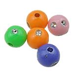 Silberdruck Acrylperlen, Acryl, rund, gemischte Farben, 6mm, Bohrung:ca. 1mm, 5500PCs/Tasche, verkauft von Tasche