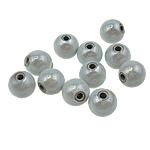 Traumhafte Acrylperlen, Acryl, rund, stumpfnattes Silber, 8mm, Bohrung:ca. 2mm, 1750PCs/Tasche, verkauft von Tasche