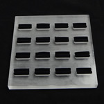 Organisches Glas Ringständer, Quadrat, 150x150x12mm, 3PCs/Menge, verkauft von Menge