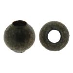Eisen Schmuckperlen , rund, antike Bronzefarbe plattiert, frei von Nickel, Blei & Kadmium, 2mm, Bohrung:ca. 1mm, ca. 2000PCs/Tasche, verkauft von Tasche