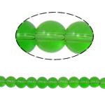 Runde Kristallperlen, Kristall, grasgrün, 8mm, Bohrung:ca. 1.5mm, Länge:12 ZollInch, 10SträngeStrang/Tasche, verkauft von Tasche