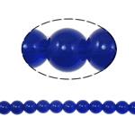 Runde Kristallperlen, Kristall, tiefblau, 10mm, Bohrung:ca. 2mm, Länge:12 , 10SträngeStrang/Tasche, ca. 33PCs/Strang, verkauft von Tasche