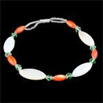 Muschel Schmuck Armband, mit Glas-Rocailles, Perlen Armband, 8x17mm, verkauft per ca. 7.5 ZollInch Strang