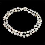 Natürliche Süßwasserperlen Halskette, Natürliche kultivierte Süßwasserperlen, Grade A, 9-10mm, verkauft per ca. 32 ZollInch Strang