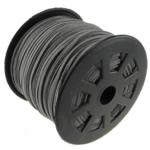 Wollschnur, mit Kunststoffspule, doppelseitig, grau, 2.50x1.50mm, Länge:100 HofHof, verkauft von PC