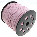 Wollschnur, mit Kunststoffspule, doppelseitig, Rosa, 2.50x1.50mm, Länge:100 HofHof, verkauft von PC