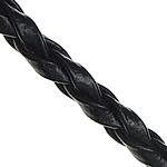 Lederband, PU Leder, binden, schwarz, 3mm, 100WerftenHof/Menge, verkauft von Menge