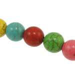 Turquoise Beads Round mixed colors 8mm Approx 1mm Approx Sold Per Approx 15 Inch Strand