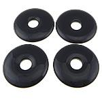 Schwarzer Achat Anhänger, Kreisring, 49-50x5-6mm, Bohrung:ca. 12mm, 10PCs/Menge, verkauft von Menge