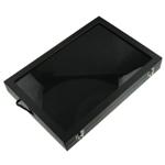 Leder Ringkasten, Rechteck, schwarz, 350x240x45mm, verkauft von PC
