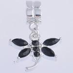 European Stil Zinklegierung Anhänger, Tier, schwarz, frei von Nickel, Blei & Kadmium, 32x20x6mm, Bohrung:ca. 5mm, 10PCs/Tasche, verkauft von Tasche