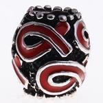 Zink Legierung Europa Perlen, Zinklegierung, Trommel, antik silberfarben plattiert, ohne troll & Emaille, keine, frei von Nickel, Blei & Kadmium, 12x11mm, Bohrung:ca. 5mm, verkauft von PC