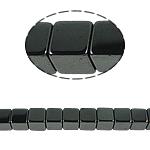 Magnetische Hämatit Perlen, Würfel, schwarz, Grade A, 8x8mm, Bohrung:ca. 1mm, Länge:15.5 ZollInch, 10SträngeStrang/Menge, verkauft von Menge