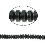 Magnetische Hämatit Perlen, Rondell, schwarz, Grade A, 4x2mm, Bohrung:ca. 1mm, Länge:15.5 ZollInch, 10SträngeStrang/Menge, verkauft von Menge