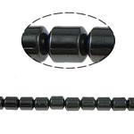 Magnetische Hämatit Perlen, Zylinder, schwarz, Grade A, 3x3mm, Bohrung:ca. 1mm, Länge:15.5 ZollInch, 10SträngeStrang/Menge, verkauft von Menge