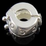 Messing European Clipverschluss, Rondell, frei von Nickel, Blei & Kadmium, 10x6mm, Bohrung:ca. 3mm, 10PCs/Tasche, verkauft von Tasche