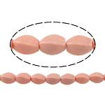 Synthetische Koralle Perle, Twist, Rosa, 10x6mm, Bohrung:ca. 1mm, ca. 38PCs/Strang, verkauft per ca. 15 ZollInch Strang
