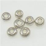 Silbereinzug Glas Rocailles, Glas-Rocailles, Rondell, Silberfarbe, 2x1.90mm, Bohrung:ca. 1mm, verkauft von Tasche