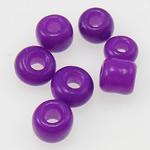 Opake Glas Rocailles, Glas-Rocailles, Rondell, violett, 2x3mm, Bohrung:ca. 1mm, verkauft von Tasche